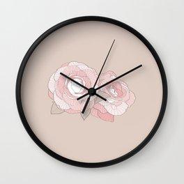 PEONIA - SAND - Sorbetedelimón Wall Clock