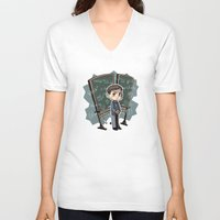 pacific rim V-neck T-shirts featuring Pacific Rim - Handwriting of God by feriowind