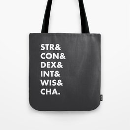 Dungeons and Dragons Abilities Tote Bag