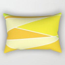 Broken Yellow Hues Rectangular Pillow