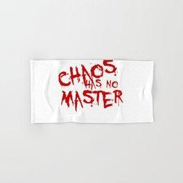 Chaos Has No Master Blood Red Graffiti Text Hand & Bath Towel