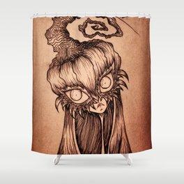 The Curious Pumpkynvine Shower Curtain