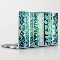 batik Laptop & iPad Skins featuring Dreamy Tribal Part VIII by Pom Graphic Design