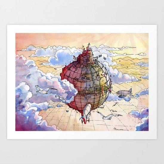 The Hot air balloon City! Art Print