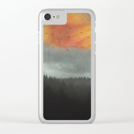 Spaces XVI - Fireball Clear iPhone Case