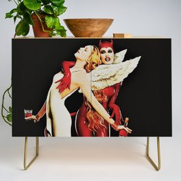 Vintage Campari Italian Bitters Aperitif Angel and Devil Advertisement Poster Credenza
