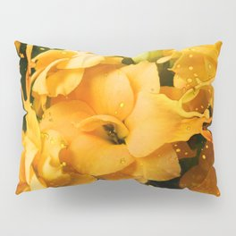 Yellow/orange Kalanchoe Flower Pillow Sham