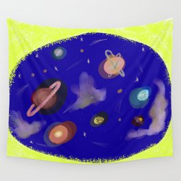Space Story Wall Tapestry
