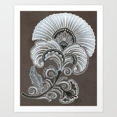 Art Deco Flower Art Print