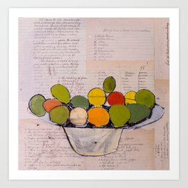 Bowl of Fruit Art Print