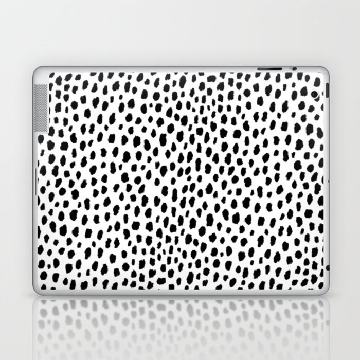 Dalmatian Spots (black/white) Laptop & iPad Skin