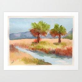 Ranch Palms Art Print