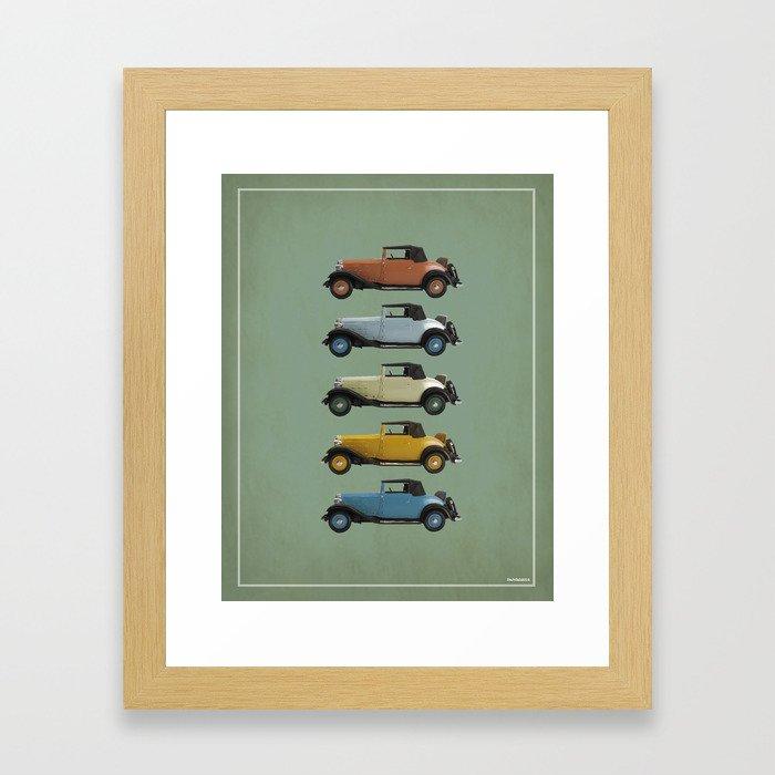 Five Vivastella's Framed Art Print