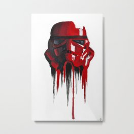 Procrastination in red 1 Metal Print