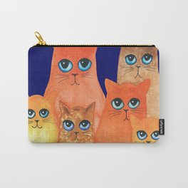 Annapolis Whimsical Cats Carry-All Pouch