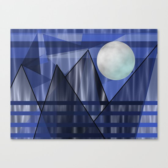 Moon Over The Mountains Canvas Print