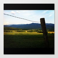 rustic Canvas Prints featuring Rustic by Blue Lightning Creative