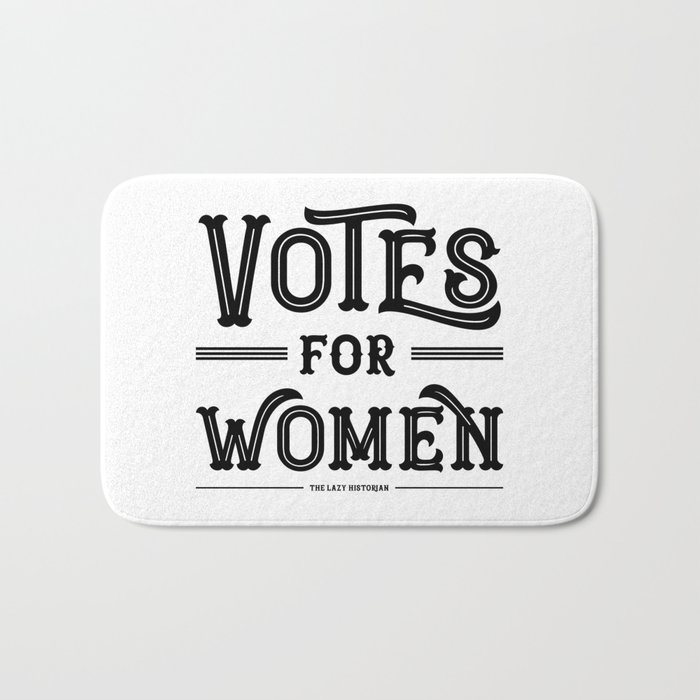 Votes For Women In Black Bath Mat By Lazyhistorian Society6