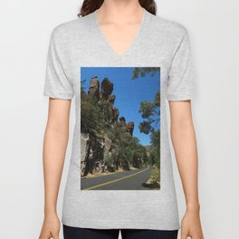 Scenic Bonita Canyon Road Unisex V-Neck