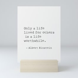 Albert Einstein quote 5 Mini Art Print