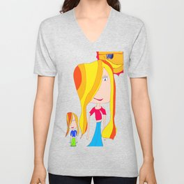 Lets Play | Kids Painting Unisex V-Neck