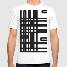 Line 3 MEDIUM Mens Fitted Tee White