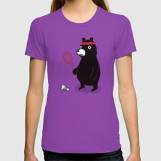 Badminton Bear Womens Fitted Tee Ultraviolet X-LARGE