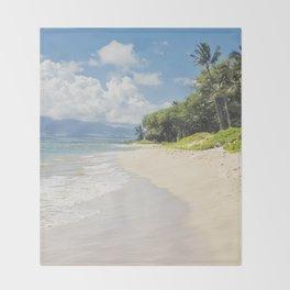 Kawililipoa Beach Kihei Maui Hawaii Throw Blanket