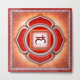 Muladhara Chakra - Root Chakra - Series I Metal Print