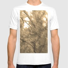 Treeage I - Sepia White Mens Fitted Tee MEDIUM