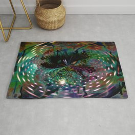 """""""Down The Rabbit Hole: Remixed"""" Rug"""