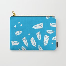 White Crystals on Blue Carry-All Pouch