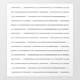Broken Lines // Black and White Art Print