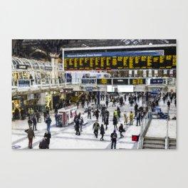 London Train Station Art Canvas Print