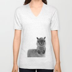 Portrait of Alpaca Unisex V-Neck