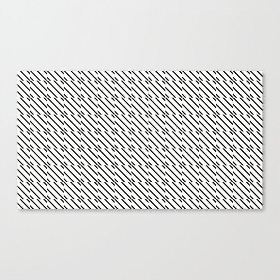 IJzerman Black & White Pattern Canvas Print