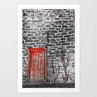 Enter The Red Door Art Print