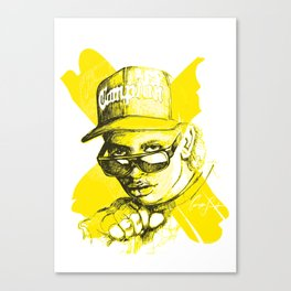 Digital Drawing #34 - Easy E in Yellow Canvas Print