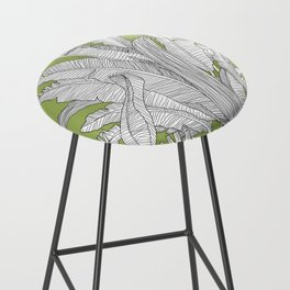 Banana Leaves Illustration - Green Bar Stool