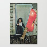 apple Canvas Prints featuring apple by tareco