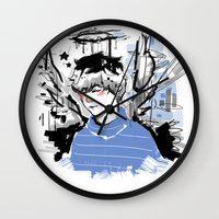 finn Wall Clocks featuring Finn by PennyHappy