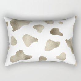 Golden cow hide print Rectangular Pillow