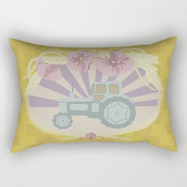 I Heart Tractors - mustard Rectangular Pillow