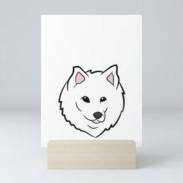 Samoyed Boy Just a Boy Who Loves Samoyed Puppies Mini Art Print