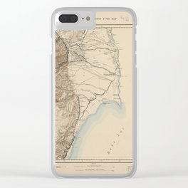 Palestine Exploration Fund Map Clear iPhone Case