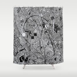 Power of Silver Shower Curtain