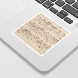 Old Music Notes - Bach Music Sheet Sticker