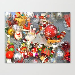 Glass Christmas Ornaments - M Canvas Print