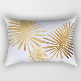 Golden Palms Rectangular Pillow