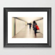 Love is an unknown destination... Framed Art Print